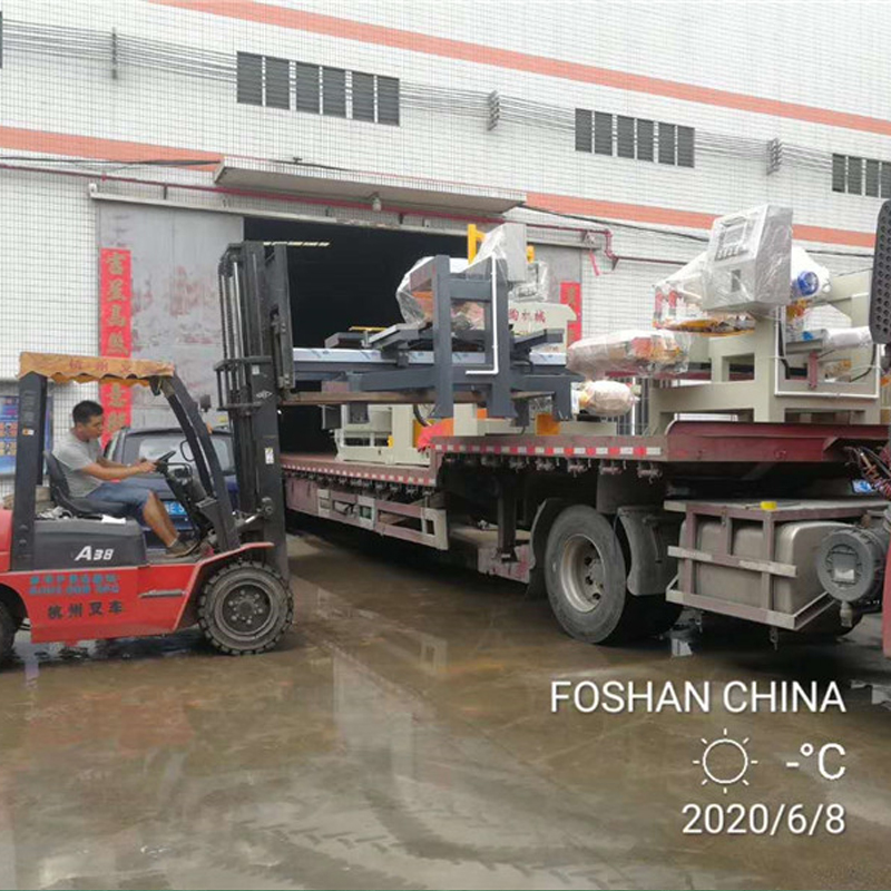 Whole set of tile processing machines