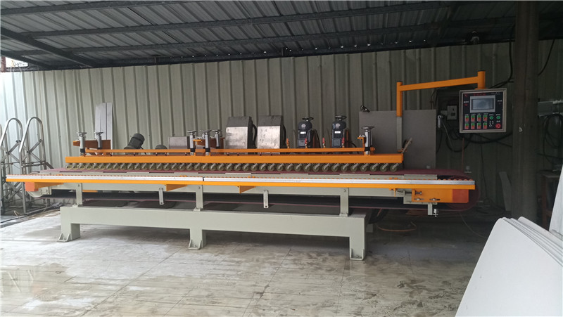 12Heads BEVEL EDGE POLISHING MACHINE FOR SINTERED STONE TABLE